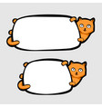 cat holding banner vector image