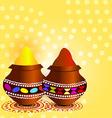 indian holi festival vector image