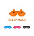 Sleep mask set Night sleeping mask icon Sleep mask vector image