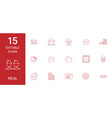 15 real icons vector image vector image