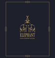 abstract elephant icon vector image vector image