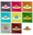 assembly flat shading style icons women hat vector image vector image