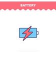 battery icon flat design advantage icon vector image vector image