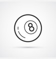billiard black ball number 8 eps10 vector image