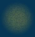 Binary code circle vector image vector image