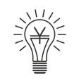 black outline lightbulb with yen vector image