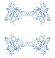 blue floral decoration dividers vector image vector image