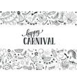 carnival greeting card vector image vector image