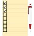 Checklist with red pen Icon vector image vector image