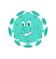 coronavirus infectious bacteria character vector image vector image