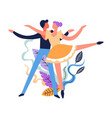 dance classes dancing pair hobby of man and woman vector image