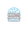 double burger linear icon concept double burger vector image