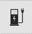 electric car charging station icon isolated vector image vector image