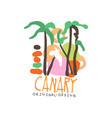 exotic summer travel to canary vector image vector image