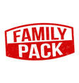 family pack sign or stamp vector image vector image