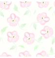 Floral seamless pattern watercolor flowers pastel vector image vector image