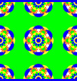flower mandala seamless pattern bright green vector image vector image