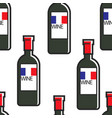french wine bottles bordeaux or cabernet seamless vector image