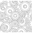 gear wheel pattern vector image vector image