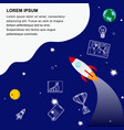 global business development web banner template vector image vector image