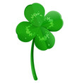 green lucky four leaf clover symbol of st vector image vector image