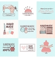 Handmade needlework badges set vector image vector image