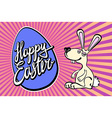 Happy Easter greeting card Hand Drawn lettering vector image vector image