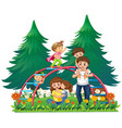happy family at playground vector image vector image