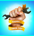 happy labor day greeting card or banner design vector image vector image