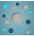 Infographic Text Circle With Links To Object Icons vector image