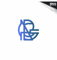 initial rg logo monogram design template simple vector image vector image