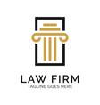 law firm logo design inspiration vector image