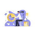 man working in office vector image vector image