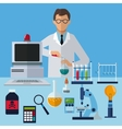 medical scientist experiment laboratory working vector image vector image