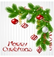 Merry Christmas background with glossy balls