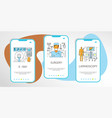 mobile app templates concept vector image
