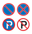 no parking or waiting road sign stopping vector image vector image