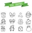 Object Christmas set icons art vector image