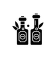olive oil black icon sign on isolated vector image vector image