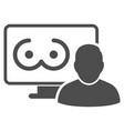 online erotics viewer user flat icon vector image