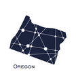 oregon state map vector image vector image