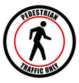pedestrian traffic sign eps10 vector image vector image