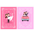 people romantic day wedding card newlywed vector image