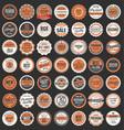 premium quality retro badges collection 2 vector image