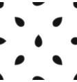 pumpkin seed pattern seamless black vector image vector image
