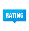 rating price tag vector image vector image