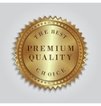 round golden badge label with text vector image