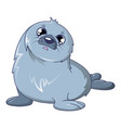 sad walrus icon cartoon style vector image