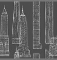 seamless pattern with skyscrapers vector image vector image