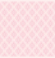 seamless pink damask pattern vector image